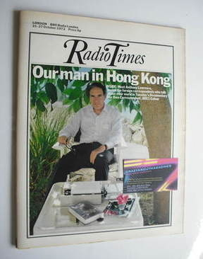 <!--1972-10-21-->Radio Times magazine - Anthony Lawrence cover (21-27 Octob