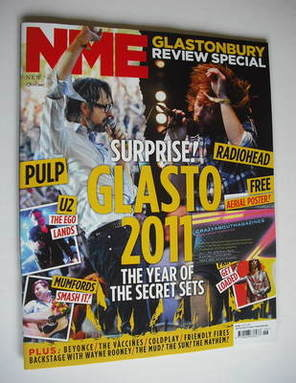 <!--2011-07-02-->NME magazine - Glastonbury 2011 cover (2 July 2011)