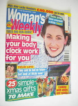<!--1995-11-21-->Woman's Weekly magazine (21 November 1995)
