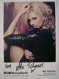 Abi Titmuss autograph (signed photograph)