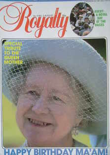 Royalty Monthly magazine - The Queen Mother cover (August 1984, Vol.4 No.2)