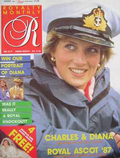 <!--1987-08-->Royalty Monthly magazine - Princess Diana cover (August 1987,