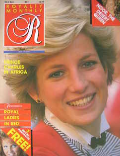 <!--1987-05-->Royalty Monthly magazine - Princess Diana cover (May 1987, Vo