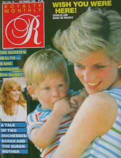 <!--1986-09-->Royalty Monthly magazine - Princess Diana and Prince Harry co
