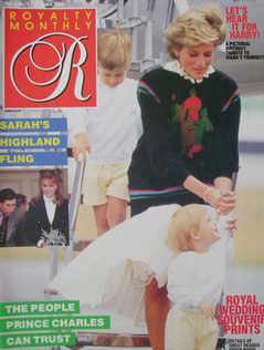 <!--1986-10-->Royalty Monthly magazine - Princess Diana, Princes William an