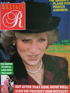 <!--1986-04-->Royalty Monthly magazine - Princess Diana cover (April 1986,