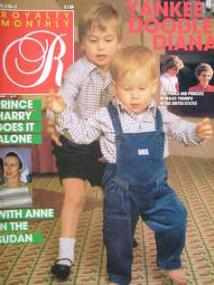 Royalty Monthly magazine - Prince William and Prince Harry cover (February 1986, Vol.5 No.5)