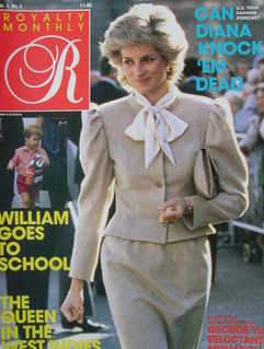 <!--1986-01-->Royalty Monthly magazine - Princess Diana cover (January 1986