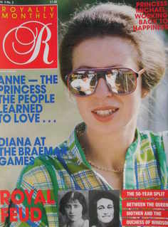 Royalty Monthly magazine - Princess Anne cover (December 1985, Vol.5 No.3)