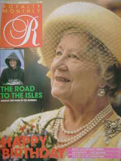 <!--1985-09-->Royalty Monthly magazine - The Queen Mother cover (September