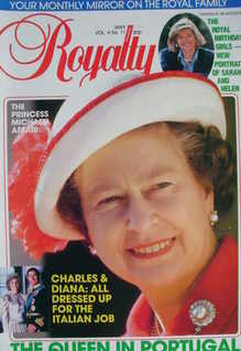 <!--1985-05-->Royalty Monthly magazine - The Queen cover (May 1985, Vol.4 N
