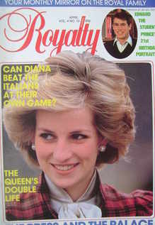 <!--1985-04-->Royalty Monthly magazine - Princess Diana cover (April 1985,