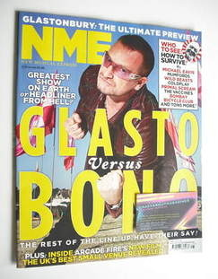 <!--2011-06-25-->NME magazine - Bono cover (25 June 2011)