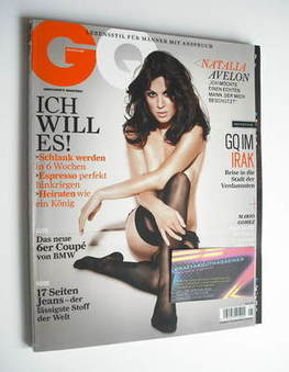 German GQ magazine - May 2011 - Natalia Avelon cover