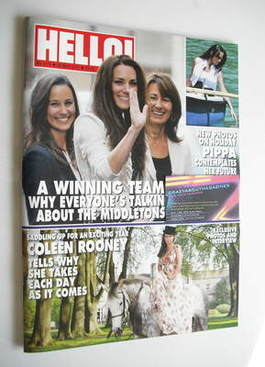 <!--2011-05-30-->Hello! magazine - The Middletons cover (30 May 2011 - Issu
