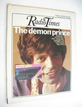 <!--1973-04-07-->Radio Times magazine - Mick Jagger cover (7-13 April 1973)