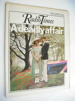 <!--1973-07-21-->Radio Times magazine - Francesca Annis and John Duttine co