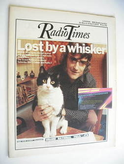 <!--1973-03-31-->Radio Times magazine - Lucky the cat and owner cover (31 M