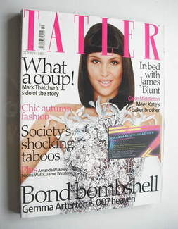 <!--2008-10-->Tatler magazine - October 2008 - Gemma Arterton cover