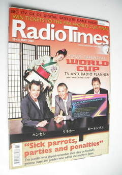 <!--2002-05-25-->Radio Times magazine - Football Pundits cover (25-31 May 2