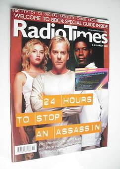 <!--2002-03-02-->Radio Times magazine - Kiefer Sutherland, Elisha Cuthbert