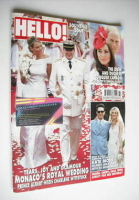 <!--2011-07-11-->Hello! magazine - Prince Albert and Charlene Wittstock wedding cover (11 July 2011 - Issue 1182)