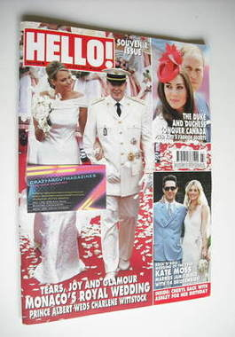 <!--2011-07-11-->Hello! magazine - Prince Albert and Charlene Wittstock wed
