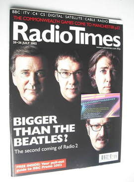 <!--2002-07-20-->Radio Times magazine - Radio 2 Presenters cover (20-26 Jul