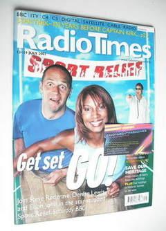 <!--2002-07-13-->Radio Times magazine - Steve Redgrave, Denise Lewis and El