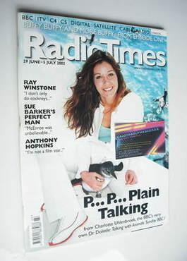 <!--2002-06-29-->Radio Times magazine - Charlotte Uhlenbroek cover (29 June