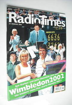 <!--2002-06-22-->Radio Times magazine - Wimbledon 2002 cover (22-28 June 20