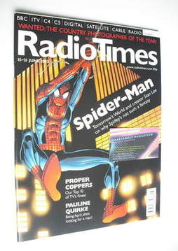 <!--2002-06-15-->Radio Times magazine - Spider-Man cover (15-21 June 2002)
