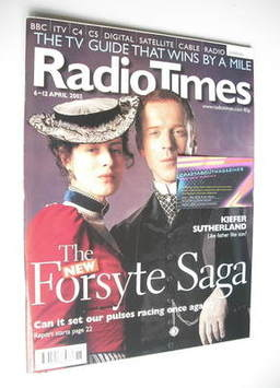 <!--2002-04-06-->Radio Times magazine - Damian Lewis and Gina McKee cover (