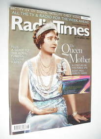 <!--2002-04-13-->Radio Times magazine - The Queen Mother cover (13-19 April