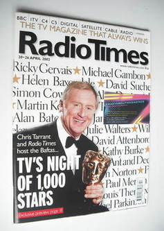 <!--2002-04-20-->Radio Times magazine - Chris Tarrant cover (20-26 April 20