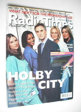 <!--2002-08-17-->Radio Times magazine - Holby City cover (17-23 August 2002