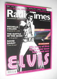 <!--2002-08-10-->Radio Times magazine - Elvis Presley cover (10-16 August 2
