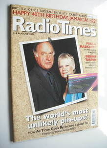 <!--2002-08-03-->Radio Times magazine - Geoffrey Palmer and Judi Dench cove