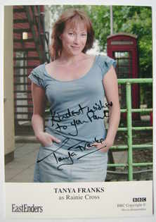 Tanya Franks autograph (EastEnders actor)