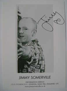 Jimmy Somerville autograph