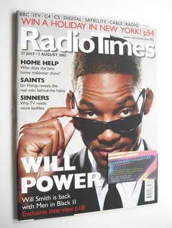 <!--2002-07-27-->Radio Times magazine - Will Smith cover (27 July - 2 Augus