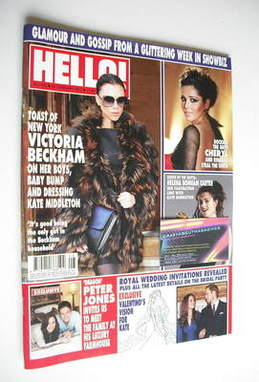 <!--2011-02-28-->Hello! magazine - Victoria Beckham cover (28 February 2011