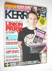 <!--2011-06-18-->Kerrang magazine - Chester Bennington cover (18 June 2011