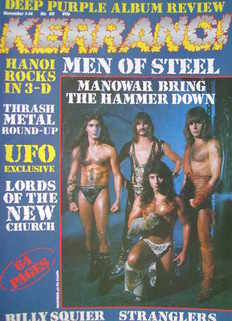 <!--1984-11-01-->Kerrang magazine - Manowar cover (1-14 November 1984 - Iss