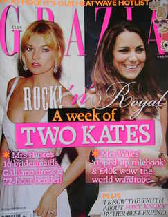 <!--2011-07-11-->Grazia magazine - Kate Moss and Kate Middleton cover (11 J