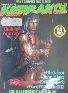 <!--1984-10-18-->Kerrang magazine - Conan cover (18-31 October 1984 - Issue