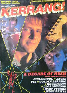 <!--1984-05-03-->Kerrang magazine - Rush cover (3-16 May 1984 - Issue 67)
