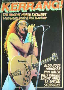 <!--1984-02-09-->Kerrang magazine - Ted Nugent cover (9-22 February 1984 -