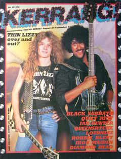 <!--1983-08-25-->Kerrang magazine - John Sykes and Phil Lynott cover (25 Au