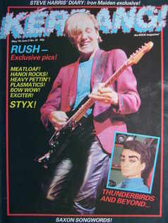 <!--1983-05-19-->Kerrang magazine - Alex Lifeson cover (19 May - 2 June 198